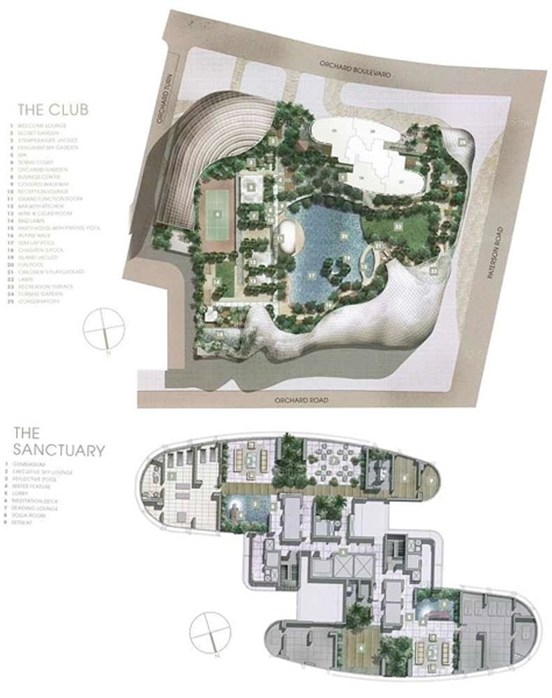 orchard residences site plan